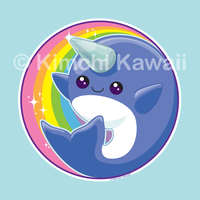 Kawaii Narwhal by kimchikawaii