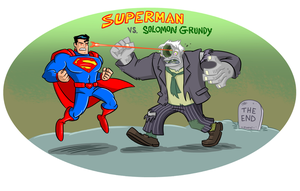 Superman VS. Solomon Grundy by scootah91