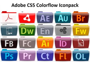 Adobe CS5 Colorflow Iconpack by SamirPA