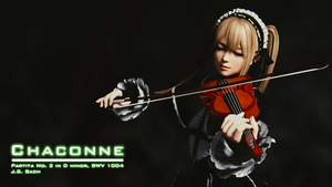 Chaconne - a render of Marie Rose playing Chaconne by zoharxl