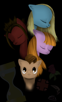 10th Doctor Whooves and his Companions by BellalyseWinchester
