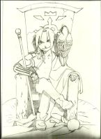 The other side of Edward Elric by Margottellinida