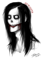Jeff The Killer Drawing by SUCHanARTIST13