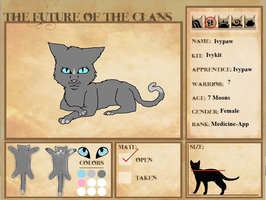 My Character for The Futre of the clans, Ivypaw 2 by CheezBugerz
