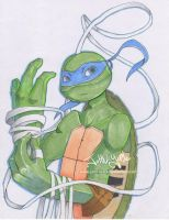 Tmnt Copic Leo by JohnYume