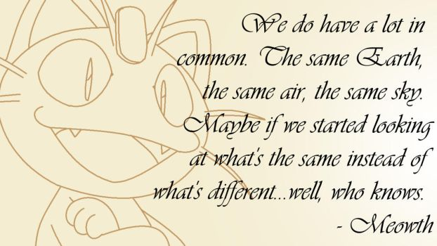 Meowth Quote by FireWings26