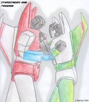 Phoenix and Starscream by Sunstars