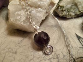 Smokey silver swirl-necklace by Destinyfall