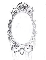 Tatto  on Deviantart  More Like Vintage Mirror Frame Tattoo On Me By  Aimstar