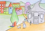 The Gray House I - children book ilustration by sanntta82