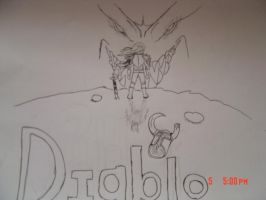 My first Diablo drawing by Namibianart23
