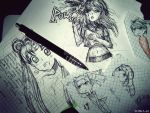 Doodles by husaria-chan
