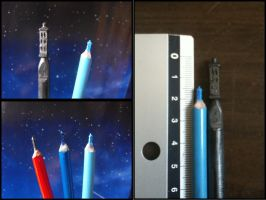 TARDIS Pencil Sculptures by theDoctorWHO2