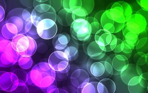 Purple and Green Digital Bokeh by Karl-with-a-C