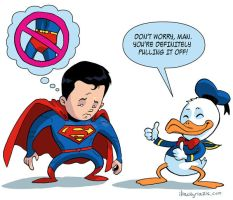 Superman and Donald Duck by iliaskrzs