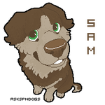 Sam pixel icon by FourDirtyPaws