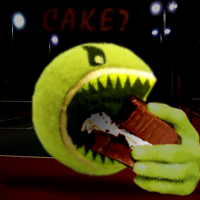 Cake eating tennis Ball by Ultimaodin