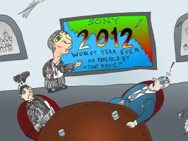 Binary Options News Cartoon SONY 2012 by optionsclickblogart