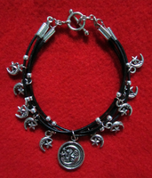Silver Moon Bracelet by BloodRed-Orchid