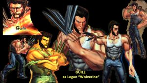 Guile as Logan (Wolverine) by salimano3