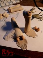 W.I.P: Firefox BJD - toe-parts base by PuppitProductions