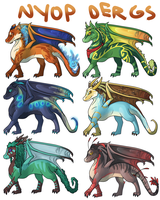 NYOP Dragon Adopts! [OPEN] by Chocodopts