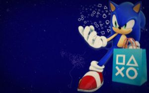 sonic ps store wallpaper by hedgehognetworks