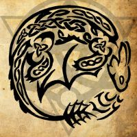 Celtic Night Fury Tattoo by WildTheory