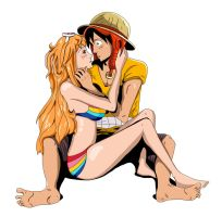 Luffy X Nami Film Z by Dutafue