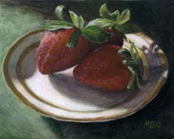 Strawberry Still Life by mbeckett