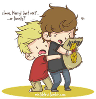 Caricatura png de Niall y Harry(One Direction) by KristyDeBieber