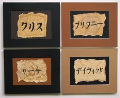 Katakana Names by theancientofdays