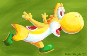 Yellow Yoshi by Cheese-is-tasty
