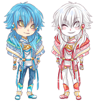 :DMMd: Aoba and Shiroba by BlackMayo