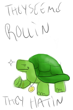 Riding Turtley by RoboTribble
