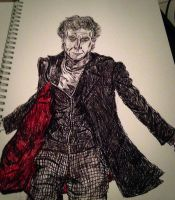 Another 12th doctor pen sketch by Dalek594