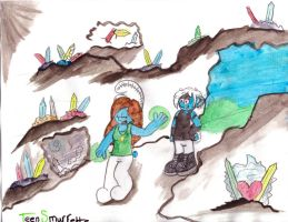 Adventure with Adventurette and Darko by TeenSmurfette