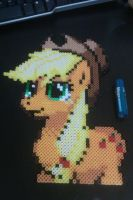 Perler Applejack Upper Body by cracklebyte