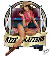 Size Matters Pinup by CrisDelaraArt