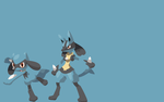 Lucario Evolutions by BtheDestroyer