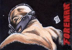 Bane PSC ACEO by Chris Foreman by chris-foreman
