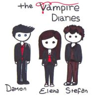 The Vampire diaries tro chibis by Xxvampire-kitsunexX