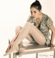 Nastya....on the table. by Real-Neil