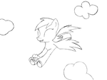 Happy Derpy Flying with a Muffin by heinrich2oo5