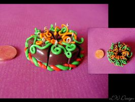 Fimo - Halloween autumn cake by LadyxWinter