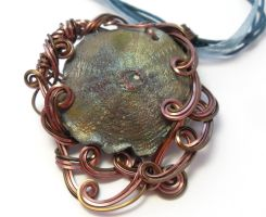 Sand Dollar Necklace by sojourncuriosities