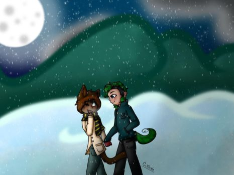 A Walk In The Snow by ChaoticCasanova