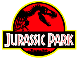 The Jurassic Park logo with a more accurate T. rex by ZeWqt