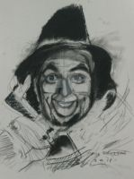 Ray Bolger/Scarecrow,charcoal on paper by pauldavisonart