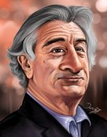 Robert De Niro Caricature by DarDesign